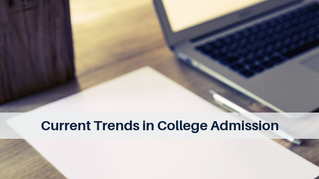 Current Trends in College Admission