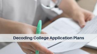 Decoding College Application Plans