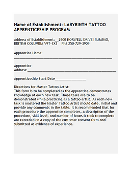 Sandra's Ink and Labyrinth Traditional Tattooing Apprenticeship course overview