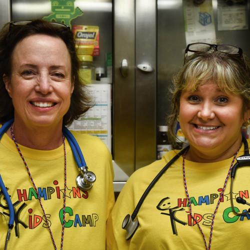 Nurse Barbara Jones and Nurse Wyliene Ti