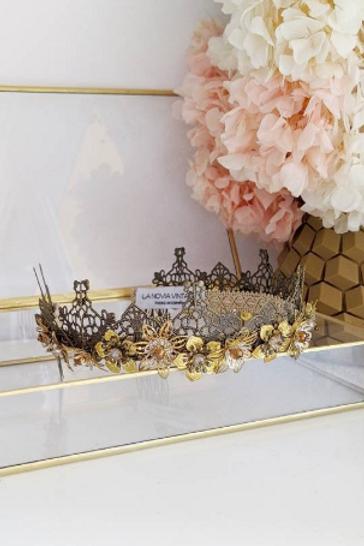 Tiara joya dorada/ Golden Jeweled Tiara