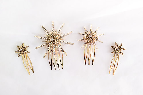 Set de peinetas ANDRÓMEDA dorada