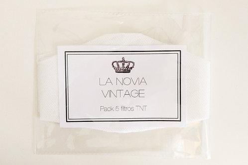Pack 5 filtros TNT (16 x 10 cm)
