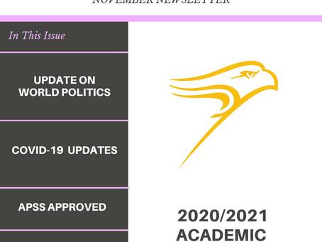 WLU APSS NOVEMBER 2020 NEWSLETTER