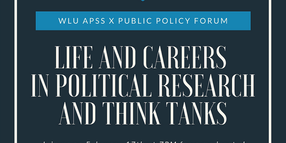 WLU APSS X Public Policy Forum