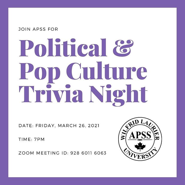 APSS Politics and Pop Culture Trivia Night