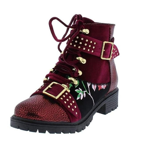 Strappy Combat Boots
