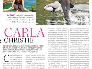 Carla Christie: nuevo reportaje