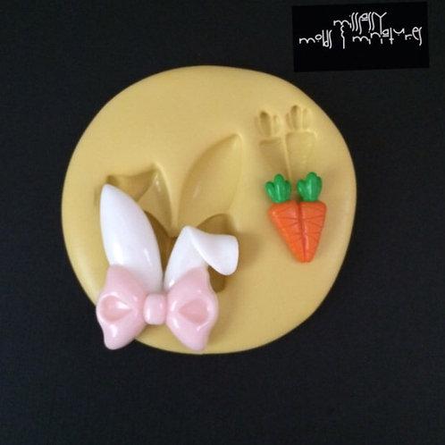 Bunny Ears & Carrot Silicone Mold