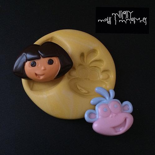 Dora Inspired Silicone Mold
