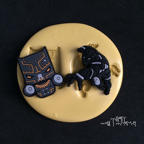 BLACK PANTHER INSPIRED SILICONE MOLD