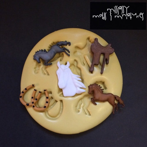 Country Horses Silicone Mold