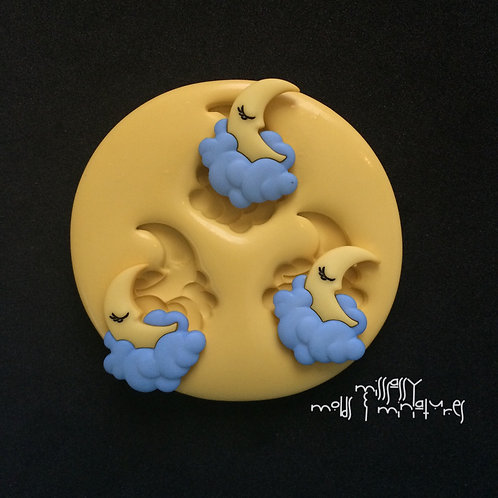 MOON & CLOUDS SILICONE MOLD