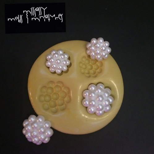 Pearl Brooch Silicone Mold