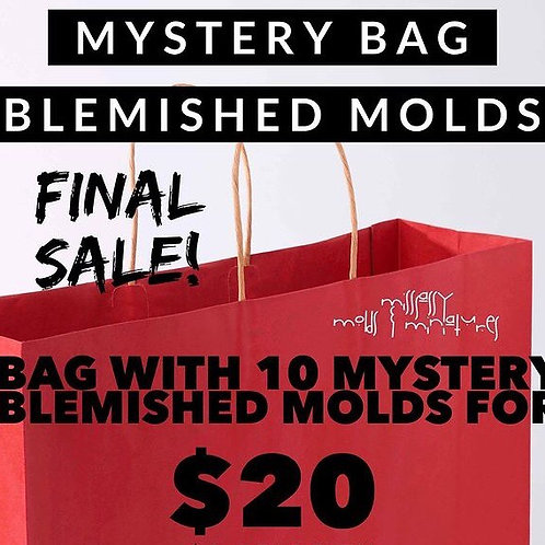BLEMISHED MOLDS MYSTERY BAG WITH 10 MOLDS - FINAL SALE!!!