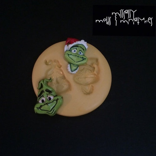 Xmas Grinch Inspired Silicone Mold