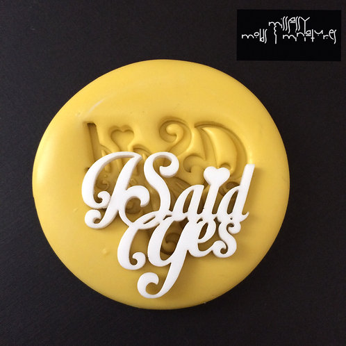 I said YES Silicone Mold