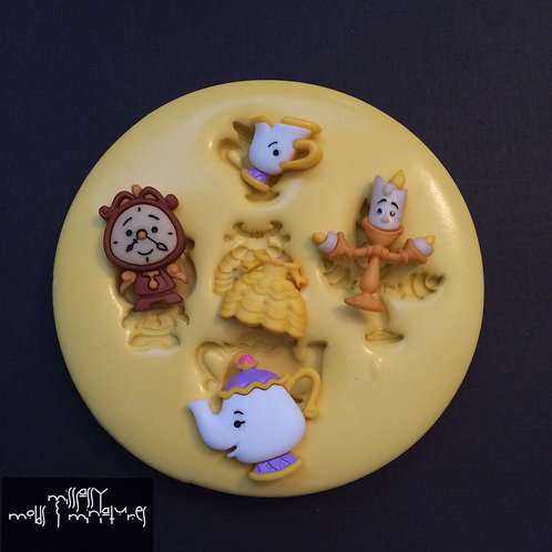 Belle & Friends Inspired Silicone Mold
