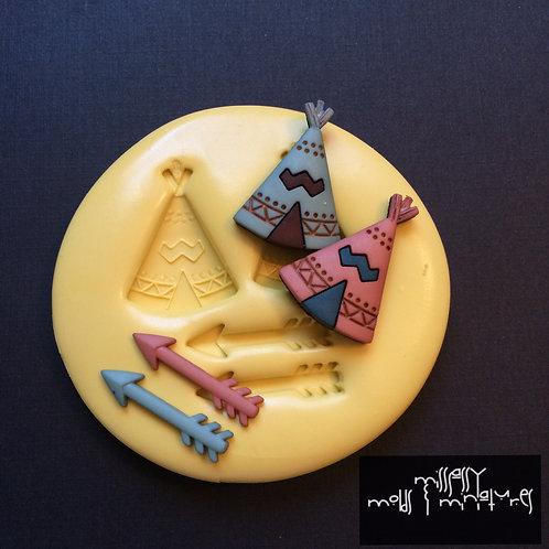 Teepee and Arrow Silicone Mold