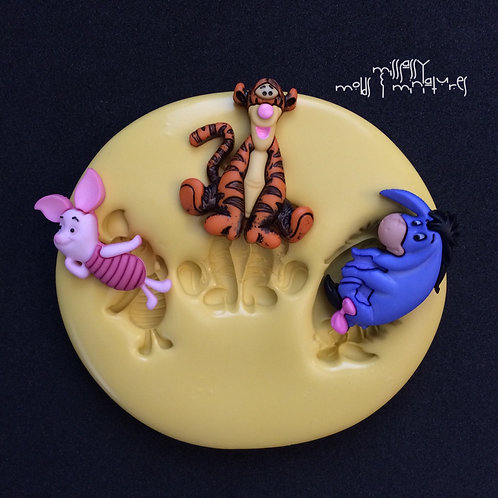 POOH FRIENDS INSPIRED SILICONE MOLD