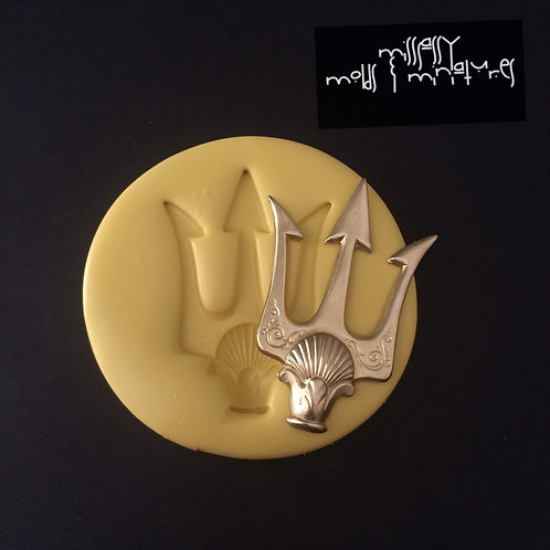Large Neptune Pitchfork Silicone Mold