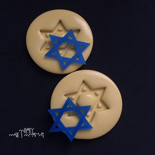 STAR OF DAVID SILICONE MOLD SET OF 2