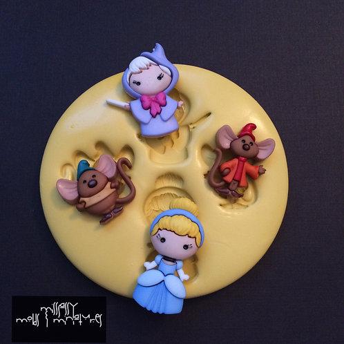 Cinderella & Friends Inspired Silicone Mold