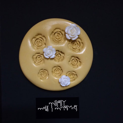 Assorted Small  Roses Silicone Mold