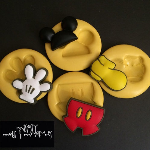 Mouse Body Parts Silicone Mold SET