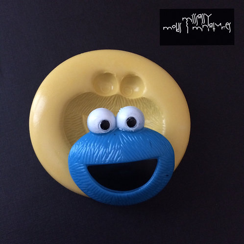Cookie Monster Inspired Silicone Mold