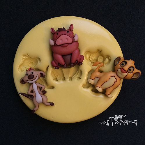 LION & FRIENDS SILICONE MOLD