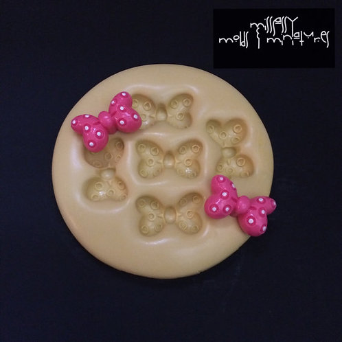 Minnie Mouse Inspired Bow Silicone Mold