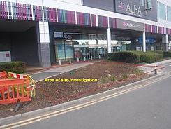A tight, complicated site investigation area in Glasgow