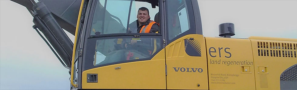 ERS earth mover operator smiling