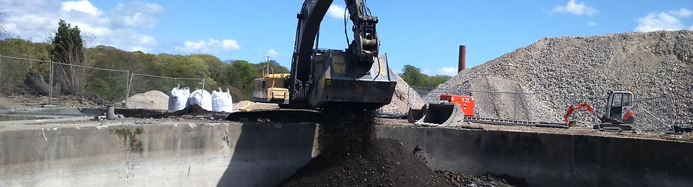 Soil solidification being used to lock-away asbestos contaminated soil