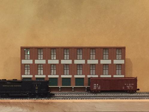 "Trackside Warehouse w/Loading Shadowbox WH-1B-2, 3-Story, 24"" Long"