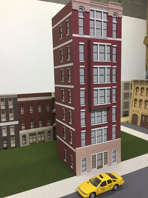 Cameron Apartments 6-Story O Scale Built-up Building