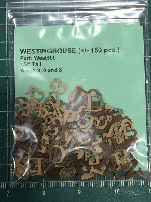 """Westinghouse 1/2"""" (0.500"""") High Laser Cut Letter Set (+/- 150 pcs.)"""