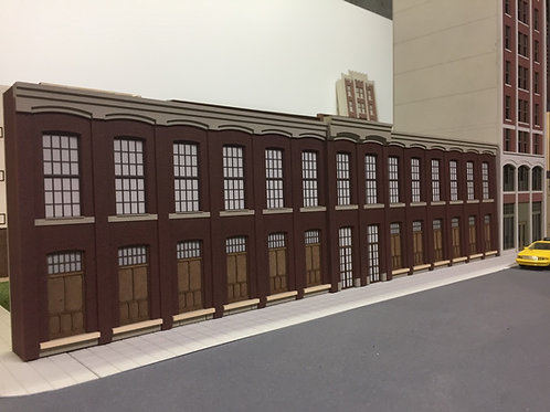 "O Scale Paterson Silk Mill, 2-Story Shadowbox WH-03, 27-3/8"" Long, UNLIT"