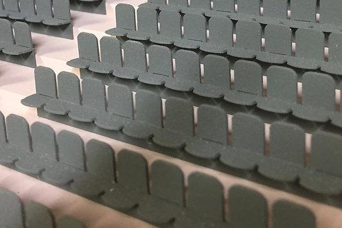 Laser Cut Stadium Seating Kit: 12 Rows Of 10 Seats