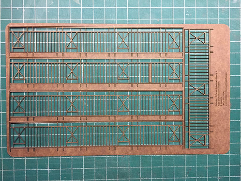 "O Scale Intertrack Fence, 1-1/4"" Tall, 35"" Long"