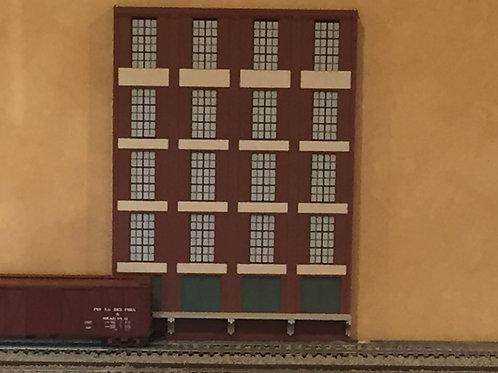 "Trackside Warehouse w/ Loading Shadowbox WH-1F-1, 5-Story, 12"" Long"