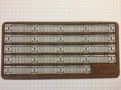 """S Scale Intertrack Fence, 5/8"""" Tall, 34-1/2"""" Long"""