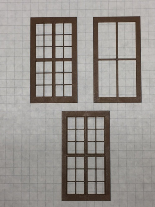 "W1-ALL 8 Variations Warehouse Window 1-1/2"" x 2-3/4"" (8 x 10 pcs.)"