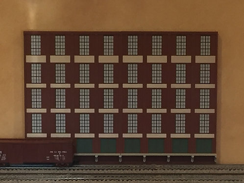 "Trackside Warehouse w/ Loading Shadowbox WH-1F-2, 5-Story, 24"" Long"