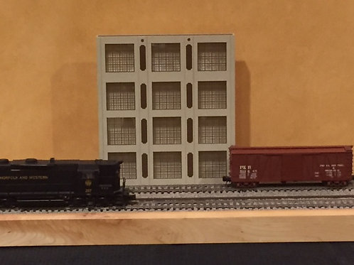 """Concrete Warehouse Shadowbox WH-2-1, 4-Story, 12"""" Long"""