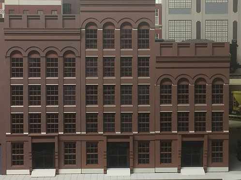 """Stauffer 4-, 5- or 6-Story """"Bank"""" O Scale Shadowbox, Lit or Unlit"""
