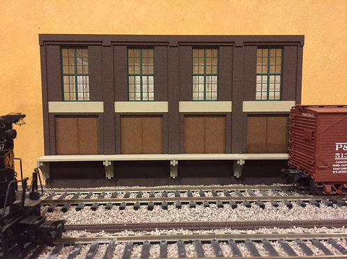 "Trackside Warehouse w/ Loading Shadowbox WH-1-1, 2-Story, 12"" Long"