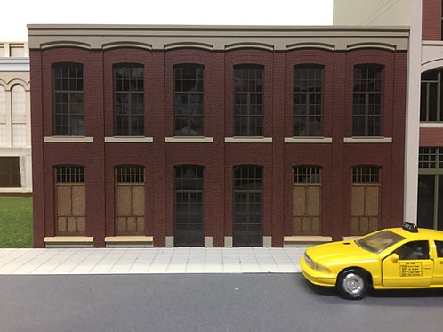 "O Scale Paterson Silk Mill, 2-Story Shadowbox WH-03, 12"" Long, UNLIT"