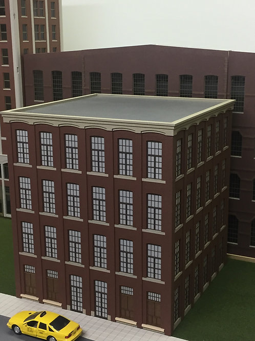 "O Scale Paterson Silk Mill, 12"" x 12"" x 4-Stories, Lit"